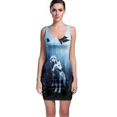 Wolfs Bodycon Dress