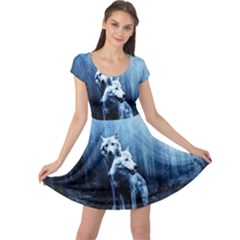Wolfs Cap Sleeve Dress
