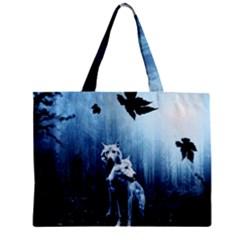 Wolfs Zipper Mini Tote Bag