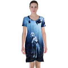 Wolfs Short Sleeve Nightdress