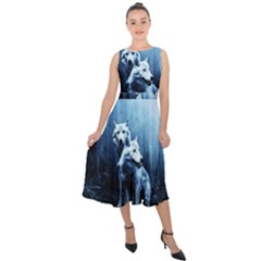 Wolfs Midi Tie Back Chiffon Dress