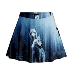 Wolfs Mini Flare Skirt