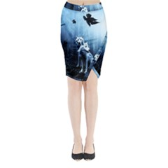 Wolfs Midi Wrap Pencil Skirt