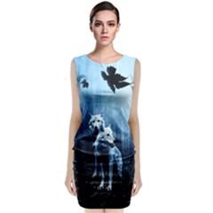 Wolfs Sleeveless Velvet Midi Dress