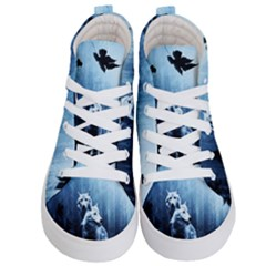 Wolfs Kid s Hi Top Skate Sneakers