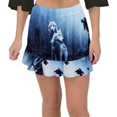 Wolfs Fishtail Mini Chiffon Skirt