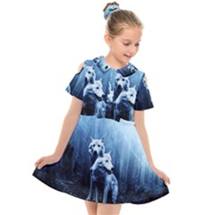Wolfs Kids  Short Sleeve Shirt Dress