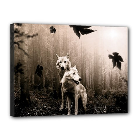 Wolfs Canvas 16  X 12  (stretched)