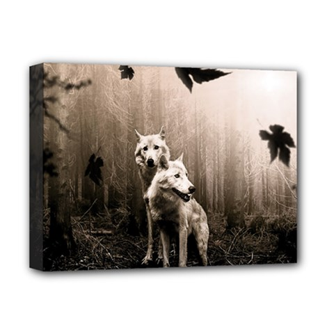 Wolfs Deluxe Canvas 16  X 12  (stretched)
