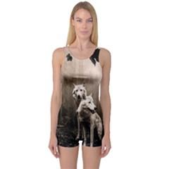 Wolfs One Piece Boyleg Swimsuit