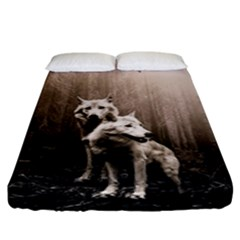 Wolfs Fitted Sheet (king Size)