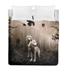 Wolfs Duvet Cover Double Side (full/ Double Size)