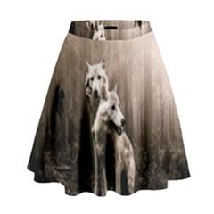 Wolfs High Waist Skirt