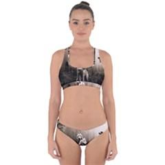Wolfs Cross Back Hipster Bikini Set