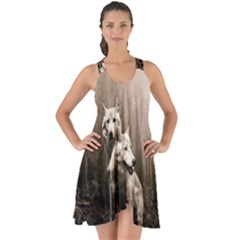 Wolfs Show Some Back Chiffon Dress