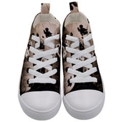 Wolfs Kid s Mid Top Canvas Sneakers