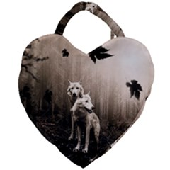 Wolfs Giant Heart Shaped Tote