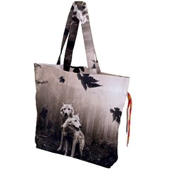 Wolfs Drawstring Tote Bag