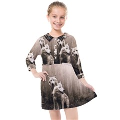 Wolfs Kids  Quarter Sleeve Shirt Dress