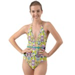 Chateau Jardin  Halter Cut-Out One Piece Swimsuit