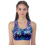 Blue Celtic Knot Square Sports Bra
