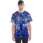 Blue Celtic Knot Square Men s Sports Mesh Tee
