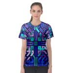 Blue Celtic Knot Square Women s Sport Mesh Tee