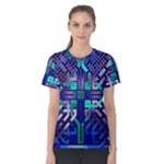 Blue Celtic Knot Square Women s Cotton Tee