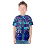 Blue Celtic Knot Square Kids  Cotton Tee