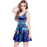 Blue Celtic Knot Square Reversible Sleeveless Dress
