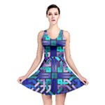 Blue Celtic Knot Square Reversible Skater Dress