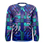 Blue Celtic Knot Square Men s Long Sleeve Tee