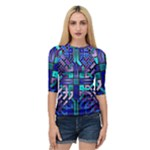 Blue Celtic Knot Square Quarter Sleeve Raglan Tee