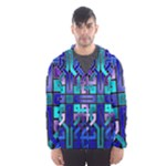 Blue Celtic Knot Square Hooded Windbreaker (Men)