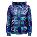 Blue Celtic Knot Square Women s Pullover Hoodie