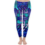 Blue Celtic Knot Square Classic Winter Leggings