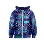 Blue Celtic Knot Square Kids  Zipper Hoodie