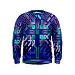 Blue Celtic Knot Square Kids  Sweatshirt