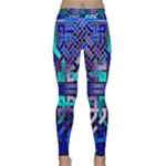Blue Celtic Knot Square Classic Yoga Leggings