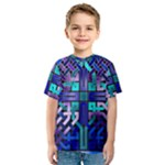 Blue Celtic Knot Square Kids  Sport Mesh Tee