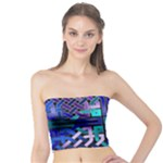 Blue Celtic Knot Square Tube Top