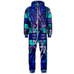Blue Celtic Knot Square Hooded Jumpsuit (Men)