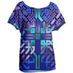 Blue Celtic Knot Square Women s Oversized Tee