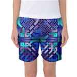 Blue Celtic Knot Square Women s Basketball Shorts