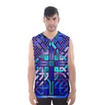 Blue Celtic Knot Square Men s Basketball Tank Top