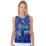 Blue Celtic Knot Square Women s Basketball Tank Top