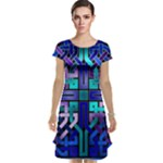 Blue Celtic Knot Square Cap Sleeve Nightdress