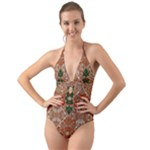 Springtime Sonata Jades Halter Cut-Out One Piece Swimsuit