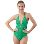 Sonata Emerald Halter Cut-Out One Piece Swimsuit