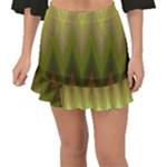 Zig Zag Chevron Classic Pattern Fishtail Mini Chiffon Skirt